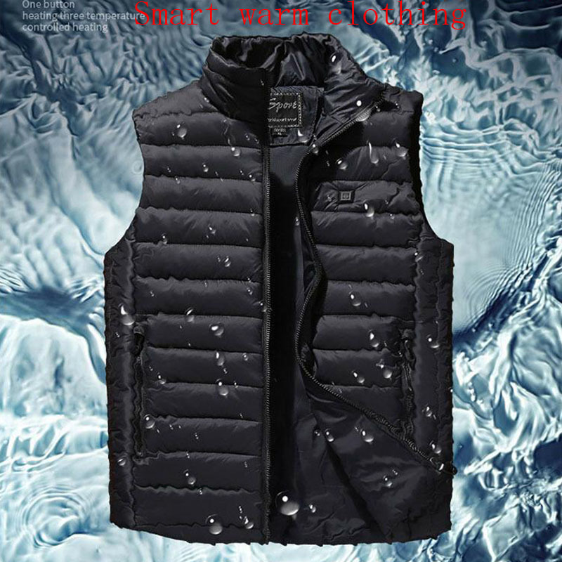 Mens Winter Outdoor Heating Sleeveless Jacket Heated Smart USB Work Coats Adjustable Temperature Control Safety Clothing DSY017Mens Winter Outdoor Heating Sleeveless Jacket Heated Smart USB Work Coats Adjustable Temperature Control Safety Clothing DSY017