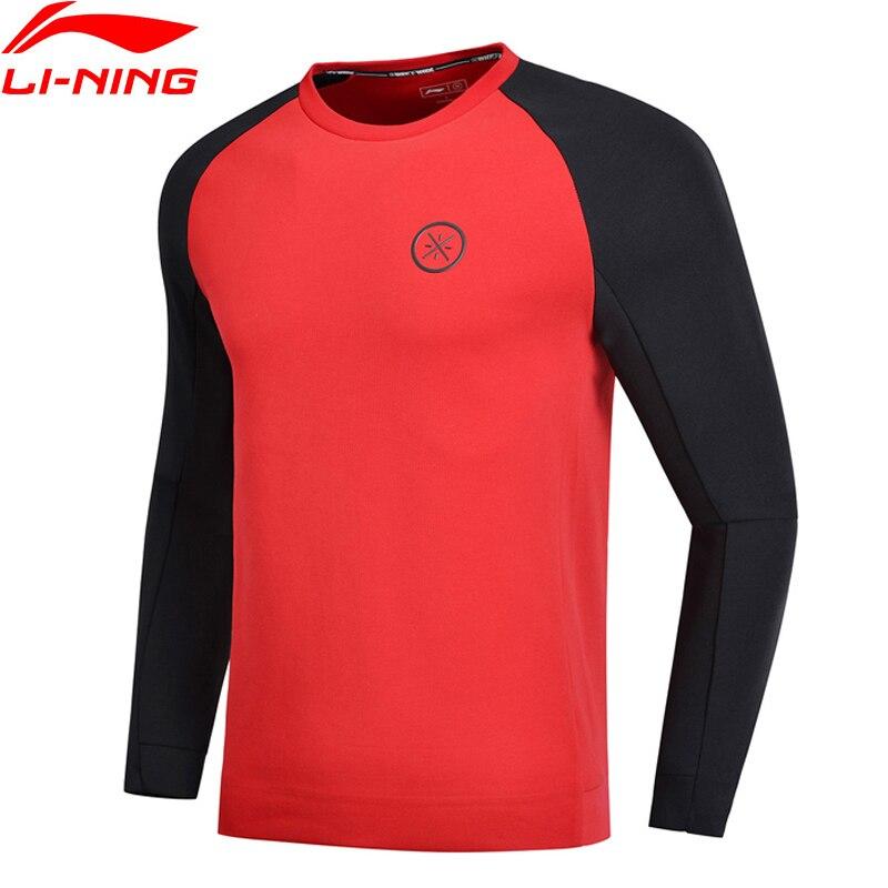 Li-ning Männer Wade Serie Pullover 3d Fitting Regelmäßige Fit 66% Baumwolle 34% Polyester Futter Komfort Sport Hoodie Awdn899 Mww1499 Top Wassermelonen Hemden
