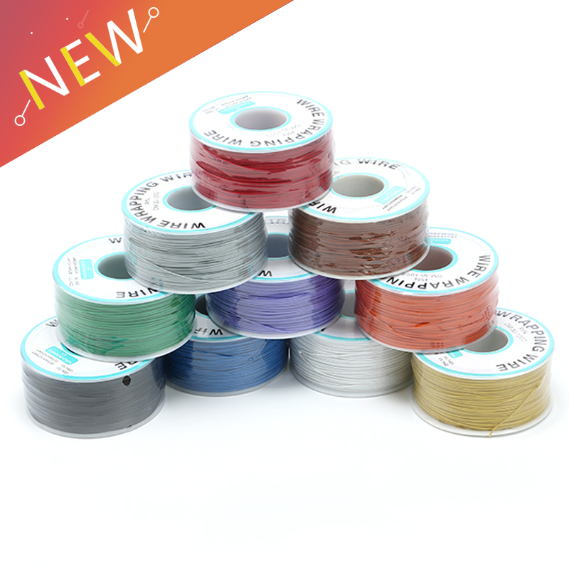 250 m/lots 30 AWG Wrapping Wire 10 Colors Single Strand Copper Cable Ok Wire Electrical Wire for Laptop Motherboard PCB Solder250 m/lots 30 AWG Wrapping Wire 10 Colors Single Strand Copper Cable Ok Wire Electrical Wire for Laptop Motherboard PCB Solder