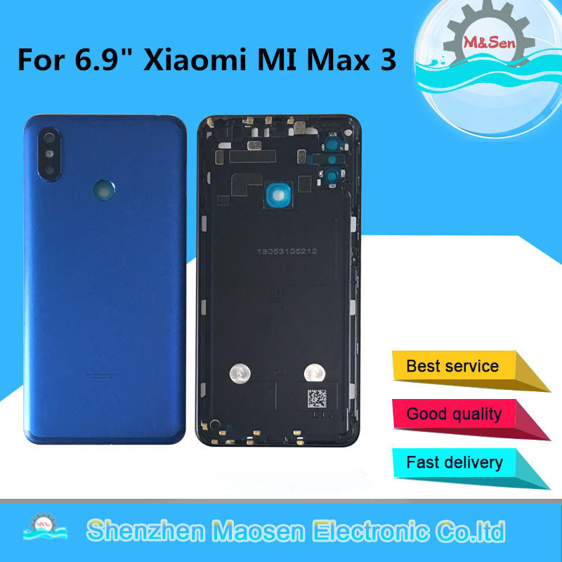 Case Camera-Frame Mi-Max Cover Glass-Lens Housing Back-Battery Xiaomi for 3-Mi Max3