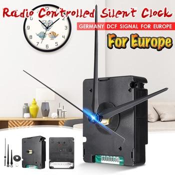 Kit DIY de movimiento de reloj silencioso controlado por Radio atómica Alemania DCF Signal para Europa HR9624 plástico y aluminio