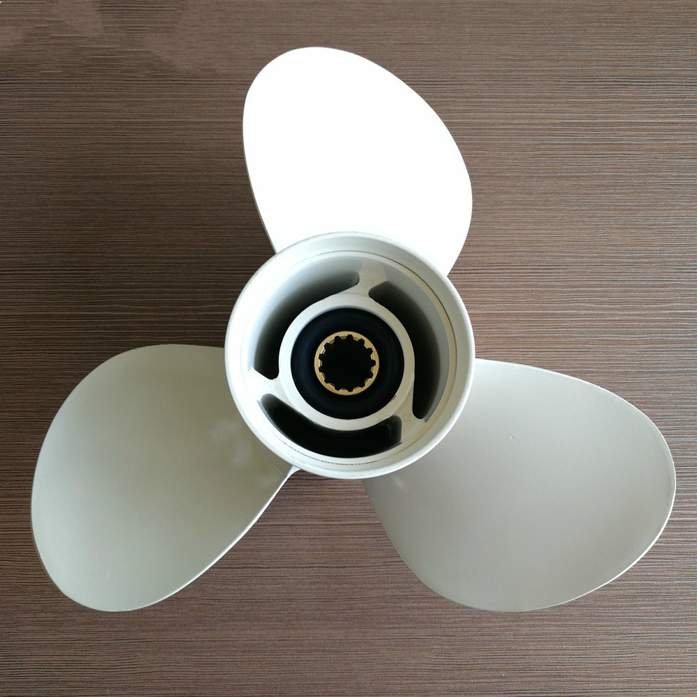 40 50HP Outboard Propeller 11 1/8 X 13 G For Yamaha 40 60HP 69W 45945 00 EL Marine Propeller Boat Parts & Accessories-in Marine Propeller from Automobiles & Motorcycles    1