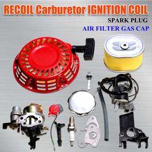 Carburetor Recoil Starter Ignition Coil for Spark Plug Filter Carburetor Carb For Honda GX160 5.5HP Engine Kit