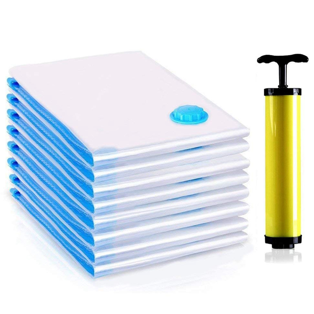 Premium Vacuum Bag, 6 Pack Vacuum Bag Clothes Include Air Pump For Travel, Perfect For Clothes, Bed Linen, Down Jackets, Towel