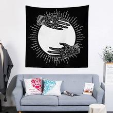 150X150cm  Mandala Bohemia Wall Hanging Tapestry Polyester Animal Moon Wolf Guns Yoga Mats Beach Towel Decor Livingroom