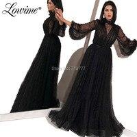 Черный, розовый арабский турецкий Дубай Выпускные платья Саудовская Аравия Формальные вечернее платье для мусульманских женщин бисером