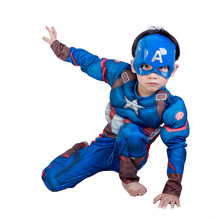 Mask Halloween-Costume Avengers Cosplay Carnival Captain-America Jumpsuits Muscle Party
