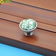 Dresser Pull Green Ceramic Drawer Cabinet Knob Red Bronze Cupboard Door Fashion Creative Vintage Furniture Ach