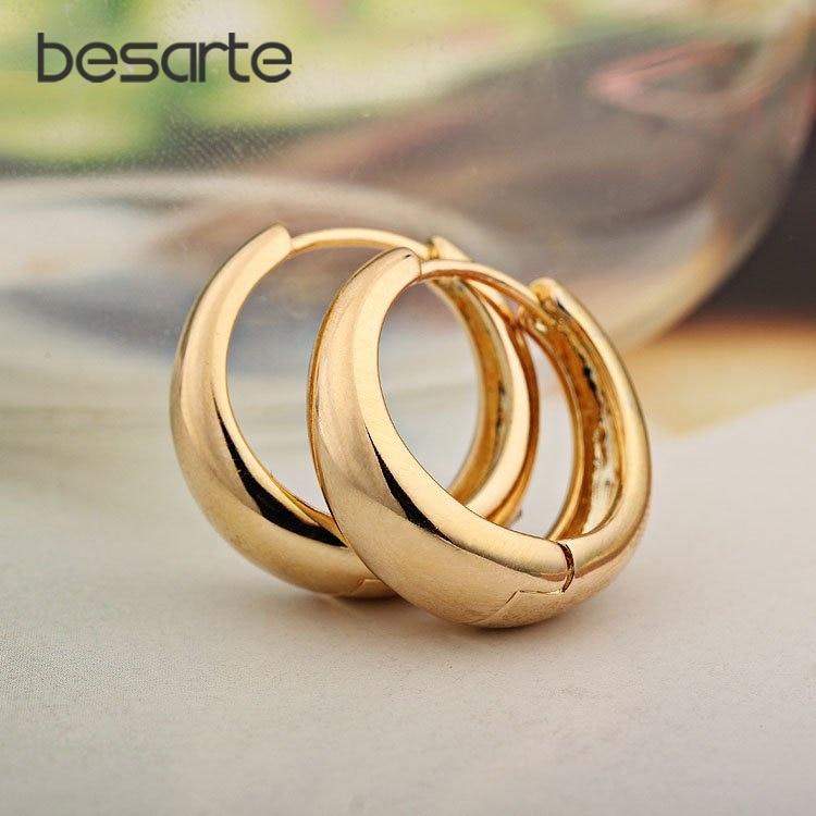 Venta de oro CC Pendientes de aro para las mujeres Pendiente de oro Brinco Ouro Ear Cuff Pendiente Boucle Doreille Bijoux Femme E0204