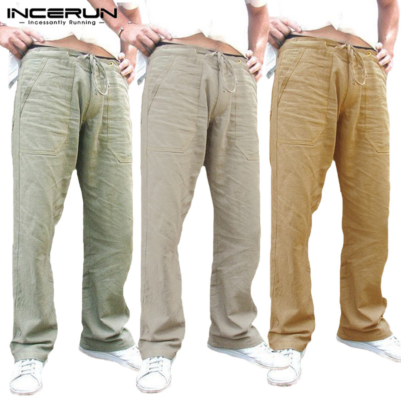Men Harem Pants Sweatpants Tracksuits Joggers Drawstring Loose Fitness Plain Straight Trousers Casual Pants Pantalon Hombre