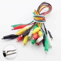 1/5/10 Uds DIY cocodrilo Clips pinzas de cocodrilo eléctrica pinza de prueba de alambre de puente Roach lleva 5 colores cocodrilo Doble