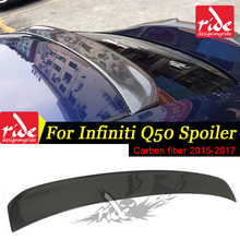 ST Style High-quality Carbon Fiber Rear Roof Window Spoiler For Infiniti Q50 Q50S Auto Racing Car Tail Lip Wing Spoiler 2015-in carbon fiber auto racing spoiler wing for porsche cayenne 958 turbo s sport 4 door 2015 2017