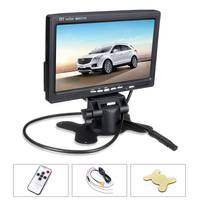 Universal 12V 7 Inch TFT LCD Screen Car Monitor Rearview Screen For CCTV Reversing Rear View Backup Camera + Remote Control