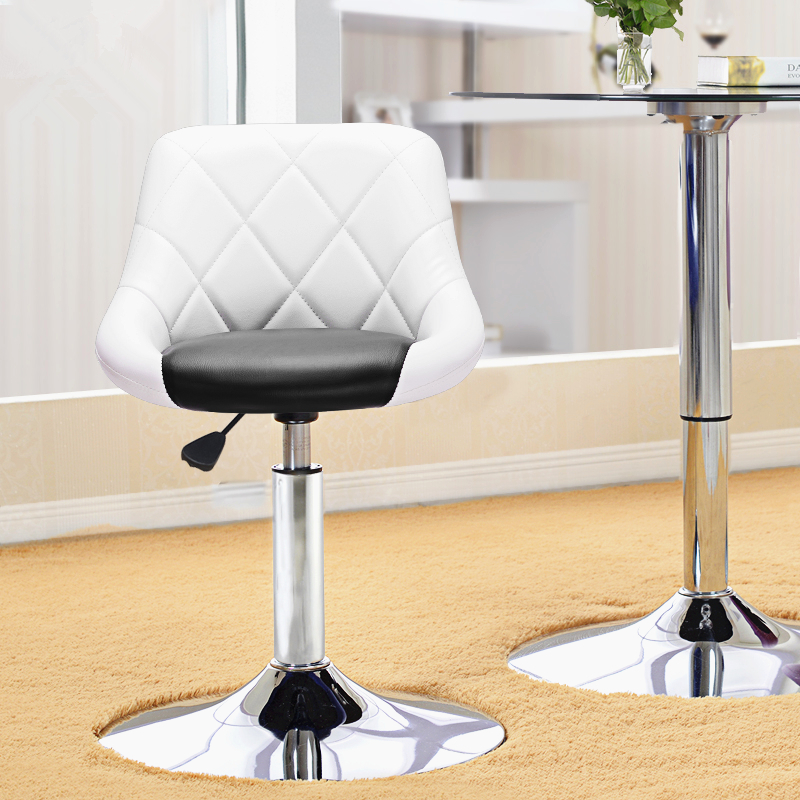 Furniture Retro Design Lifting Swivel Bar Chair Rotating Adjustable Height Pub Bar Stool Chair Footrest Pu Material Reception Cadeira