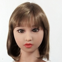 tpe Oral Sex Doll Head for 140cm to 176cm Full Size Lifelike Realistic Doll with Wig and Eyes M16 Screw Thread