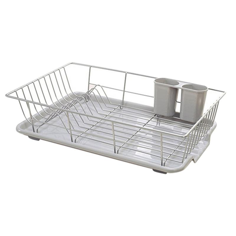 Dish Storage Drying Rack Stainless Steel Plate Storage Plate Rack with Drainboard for Kitchen Cutlery Storage