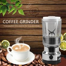 Portable 100W Stainless Steel Electric Coffee Grinder Coffee Maker Kitchen Herbs Spices Nuts Grains Coffee Bean Grinding Machine
