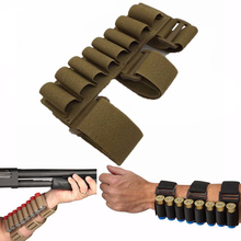 Outdoor Tactical 8 Round Gun Shell Holder Ammo Bag Shotgun Rifle Ammo Bag 1000D Nylon Arm Bullet Bag Outdoor Bag Hunting Pouches