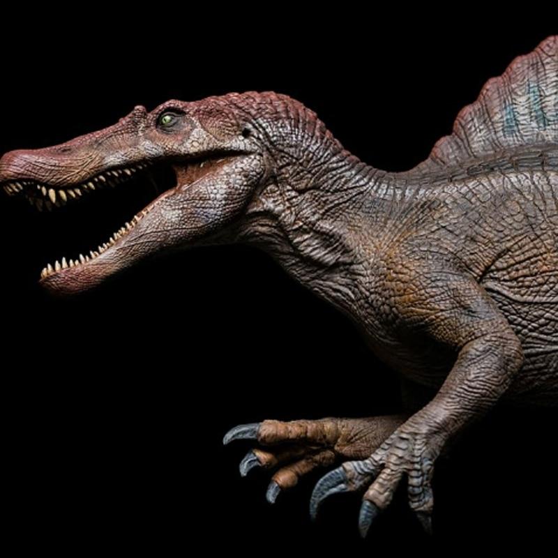 Em estoque 2019 w-dragão jurássico mundo egito dinossauros spinosaurus coleção 1/35 filme reduction45cm