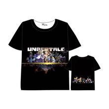 Hot Anime undertale T-shirt Men Women Short Sleeve Summer dress Cartoon Tops Unisex Cosplay Undertale sans and papyrus t shirt