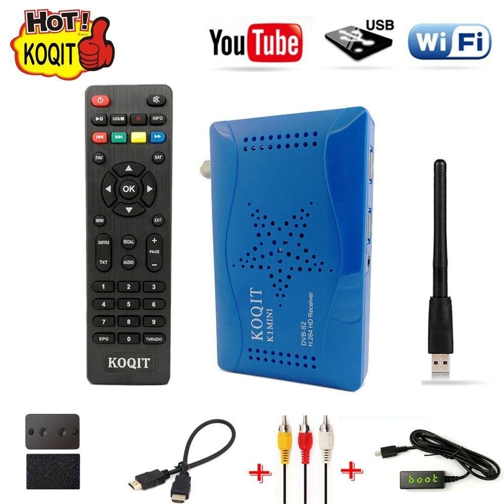 Koqit 1080 P DVB-S2 N/S América S2 Sintonizador HD DVB Receptor de Satélite Digital Receptor de TV Box Wifi AC3 biss Youtube Vu de Gravação USB