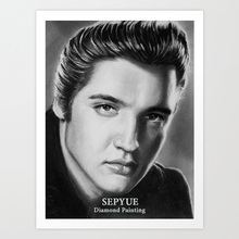 SepYue Diamond Paintings Cross Stitch New Arrivals 5D DIY Embroidery Paint with Diamonds Mosaic Rhinestone Elvis Presley