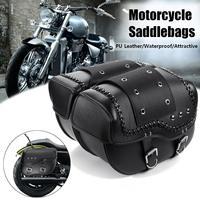 Motorcycle Saddlebags Leather Luggage Storage Tool Pouch Saddle Bag For Harley/Honda/Suzuki/Kawasaki/Yamaha