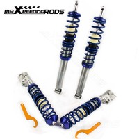 Coilovers Kit for VW Golf MK2 MK3 Vento and Corrado 741005 Coil Spring Struts Shock Absorbers Blue