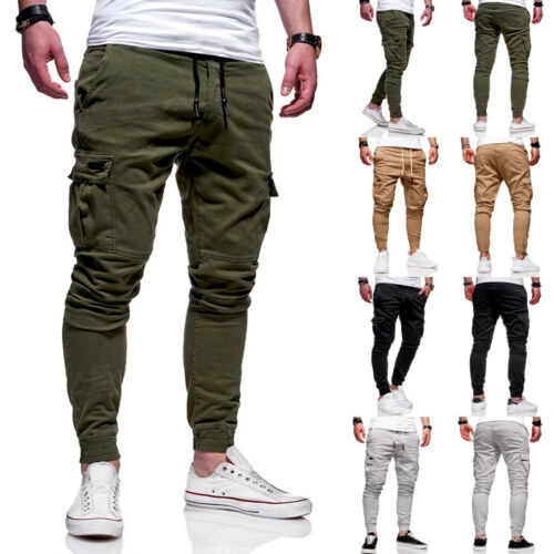 2019 New Mens Slim Fit Tracksuit Bottoms Skinny Jogging Joggers Sweat Pants Trousers