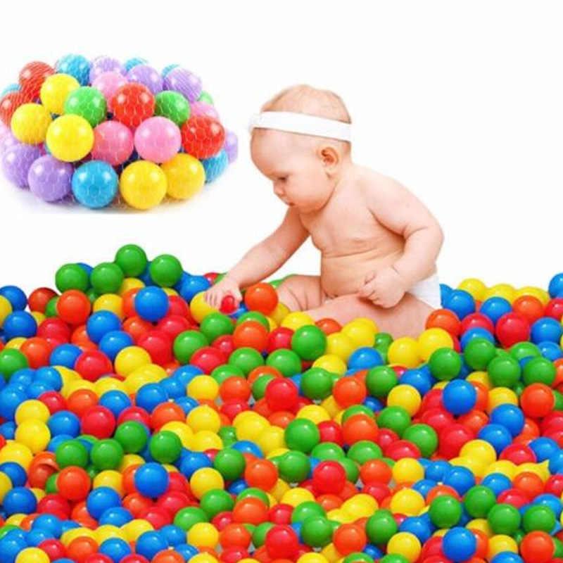 100 adet okyanus top çukur bebek çocuk banyo yüzmek oyuncaklar çocuk su havuzu plaj topu yumuşak plastik toplar oyuncaklar yenidoğan fotoğraf pervane