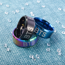 BTS Laser Engraved Titanium Steel Ring