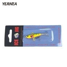 Yernea 1PCS 6cm 10.4g Ice Fishing Jig Bait 4 Colors Winter Carp Lure hooks Lead Hard Tackle