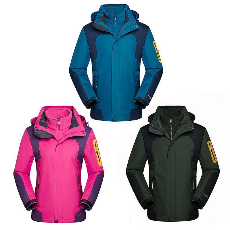 Hommes et femmes veste de Ski deux pièces imperméable veste coupe-vent thermique manteau pour extérieur Ski de montagne Snowboard veste