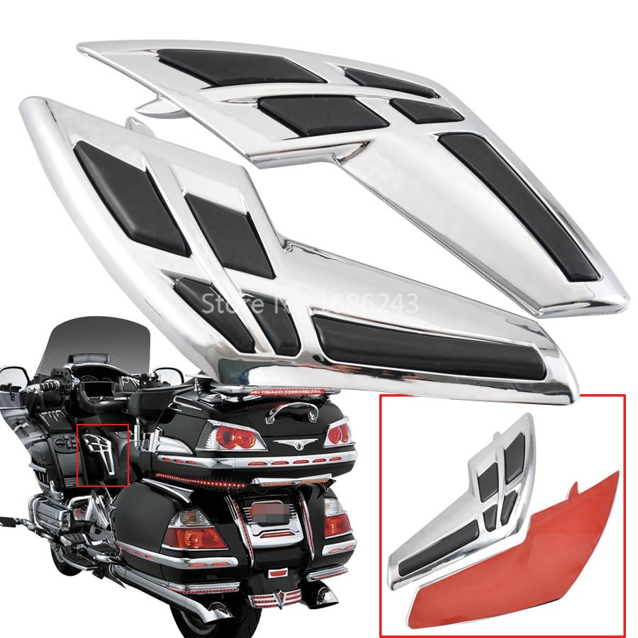 Motorcycle Goldwing Chrome Fairing Tank Trim with Knee Pads Fits For Honda Gold Wing GL1800 2001