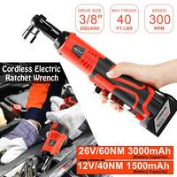 12/26V 3/8 Cordless Electric Ratchet Wrench Tool Set Kit Rechargeable Lithium Ion Battery Scaffolding Impact Wrench Power Tool