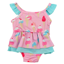 2019 Baby Girls Swimwear Kids Girls One-piece Swimsuit Bikini Sleeveless Swimwear Fashion Bathing Suit Beachwear 9-24M P30 недорого