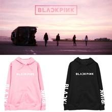 Kpop BlackPink Pink Cotton Women/men casual hoodies autumn warm sweatshirt korean Hip Hop Fashion loose Women clothes