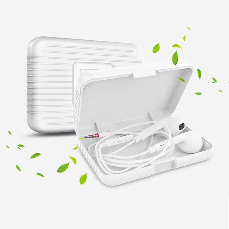 Q1 Earphone Storage Pouch Box Bag Headset Organizer Digital Accessories Protective Earbuds Case Pure White Flip Cover Pocket