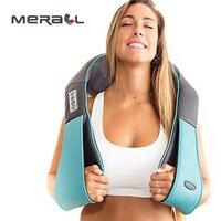 U Shape Electrical Shiatsu Back Neck Shoulder Body Massager Home Car Office Body Spa Infrared 4D Heated Kneading Massagem