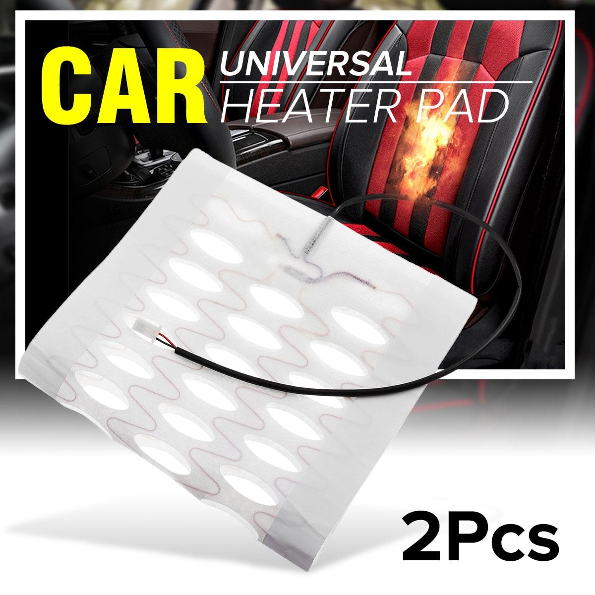 2 stücke 12 v beheizte sitze Deckt Pad Carbon Faser Beheizt Auto Auto Sitze Heizung Pad Winter Wärmer Heizung Matte 48 cm x 27 cm