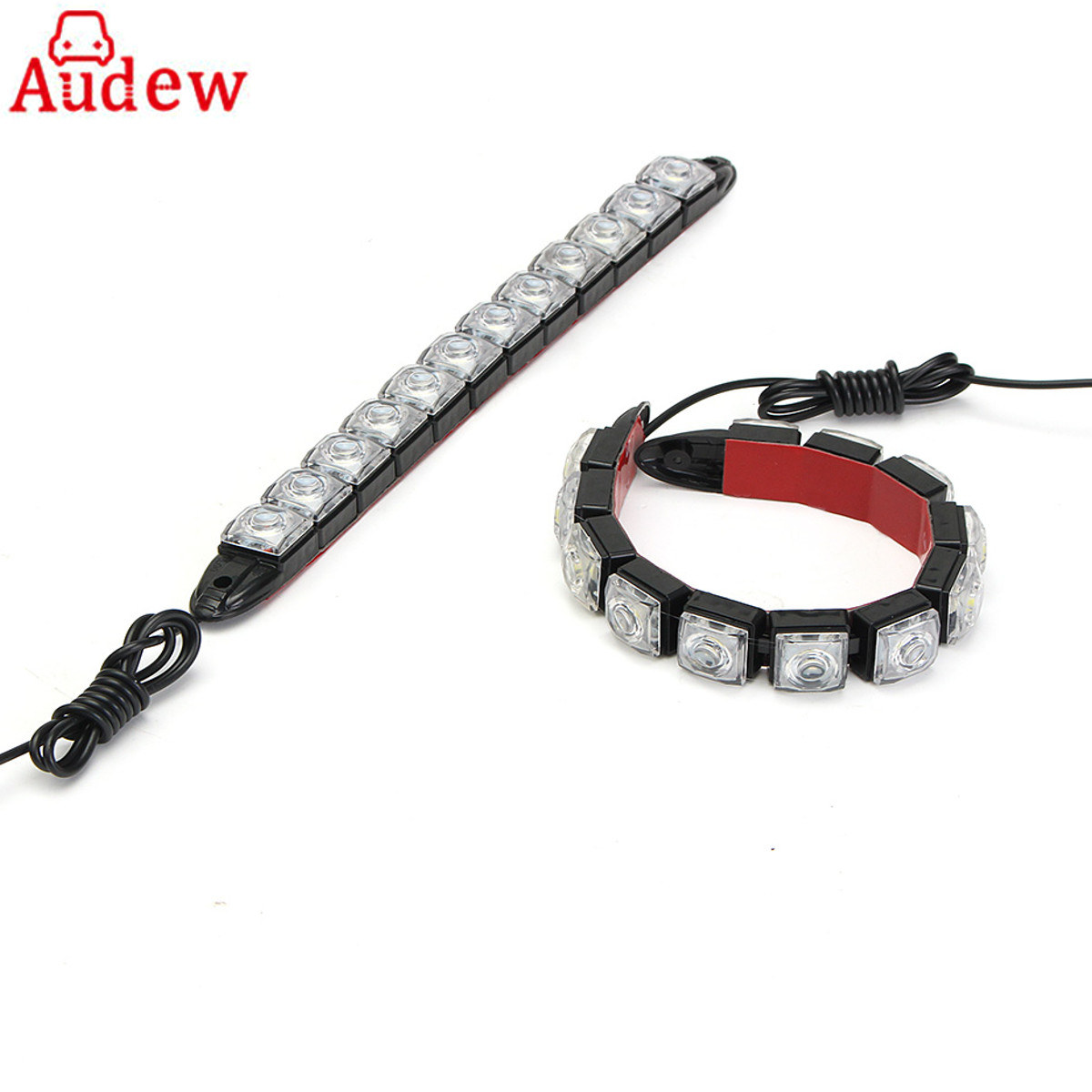 2pcs 12led 17mm Car Flexible Daytime Running Light Fog