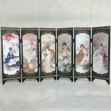 Четыре большие красавицы Восточный китайский золотой лак складной экран комнаты