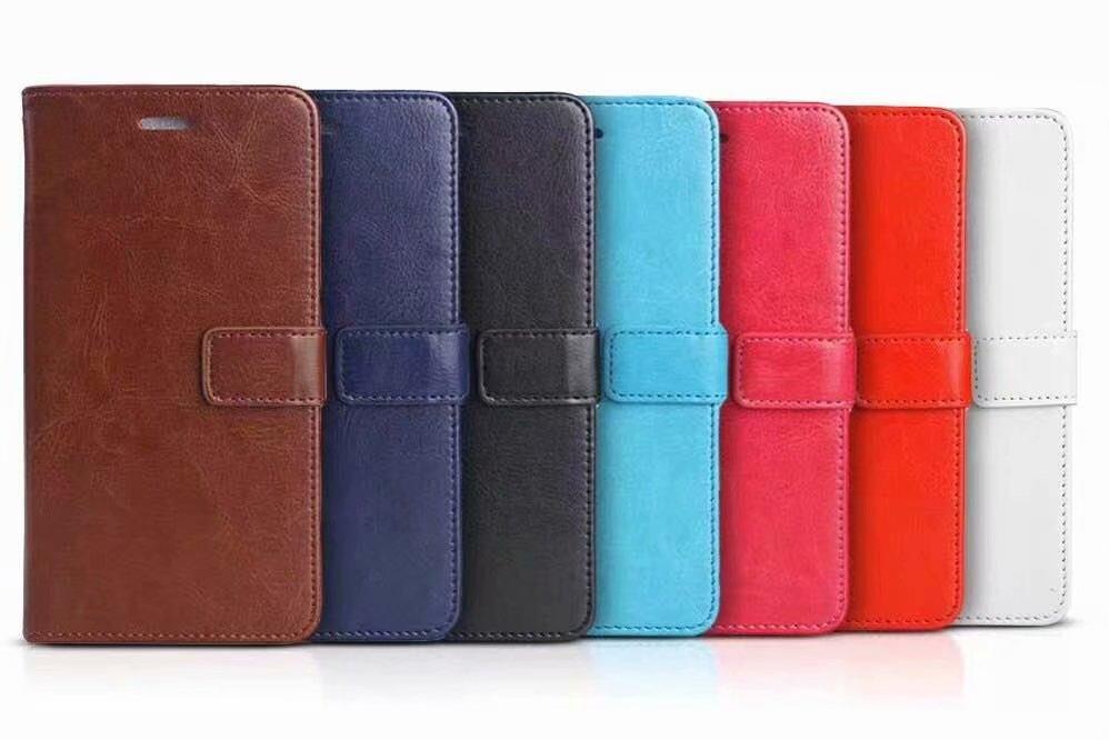 100pcs lot Book Style Crazy Horse Lines Leather Wallet Case For huawei P20 Lite 2019 Nova