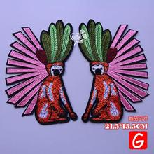 GUGUTREE embroidery big monkey patches animal patches badges applique patches for clothing DX-59 gugutree embroidery big dragon patches animal patches badges applique patches for clothing dx 18