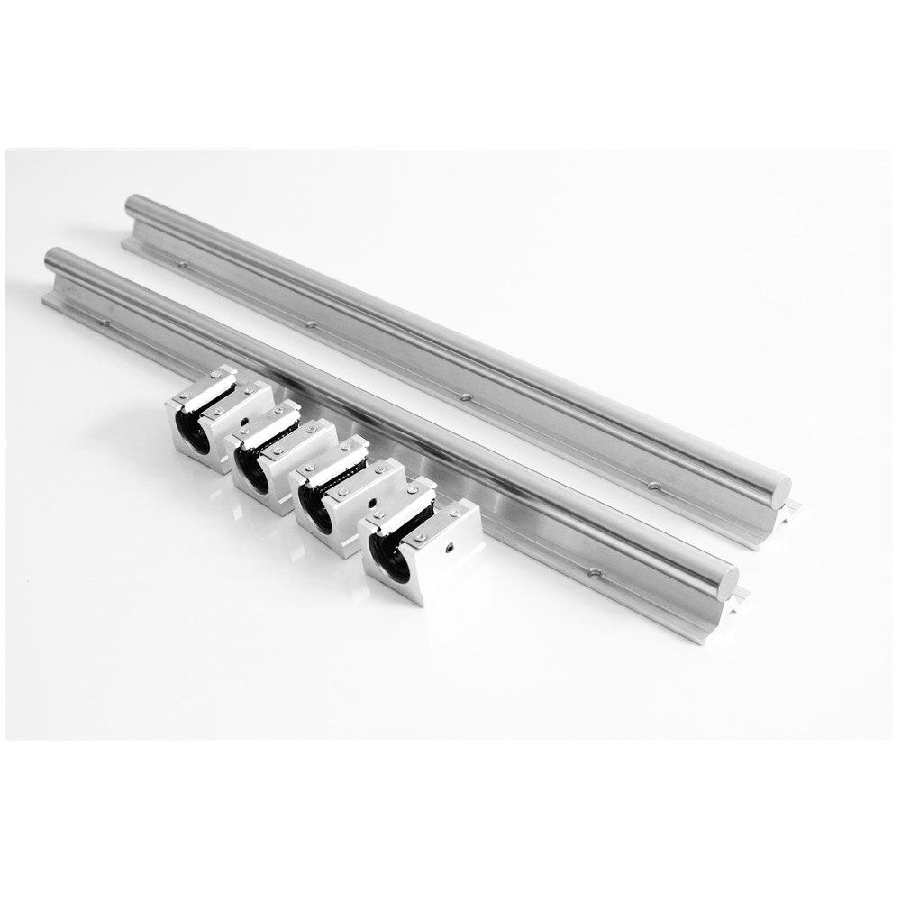10mm Linéaire Rail SBR10 300/500/600/1000mm Entièrement Pris En Charge Glisser Arbre Tige Guide avec 4 pièces SBR10UU Bloc - 3