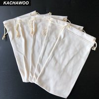 Kachawoo Beige 100PCS Eyeglasses Bag Custom Logo Sunglasses Bag Soft Pouch Portable Storage for Glasses Wholesale