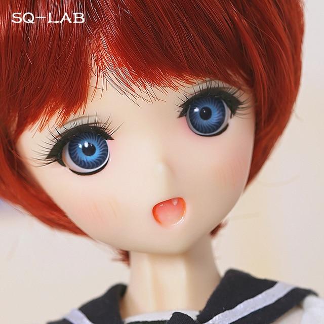 SQ מעבדה _ מו Chibi 31cm 1/6 BJD SD שרף דגם תינוק בנות בני בובות משלוח עיניים באיכות גבוהה יום הולדת מתנות חנות Fullset OUENEIFS