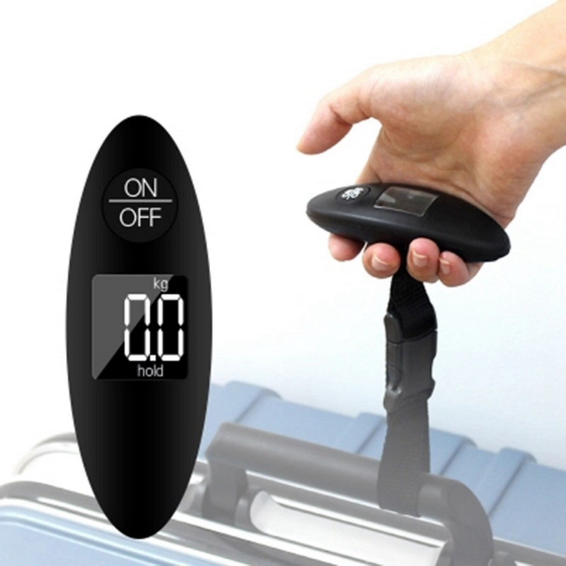 1Pc Digital Electronic Luggage Scale Lcd Display Travel Handheld Weighing Luggage Scale Weight Balance