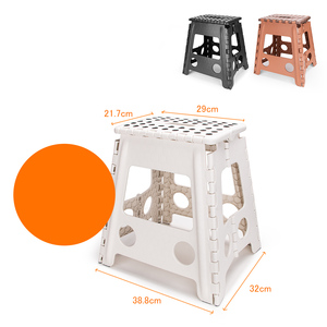 Image 3 - Living Plastic Folding Step Stool 16 inch Height Premium Foldable Stool for Kids & Adults Kitchen Garden Bathroom Stepping Stool