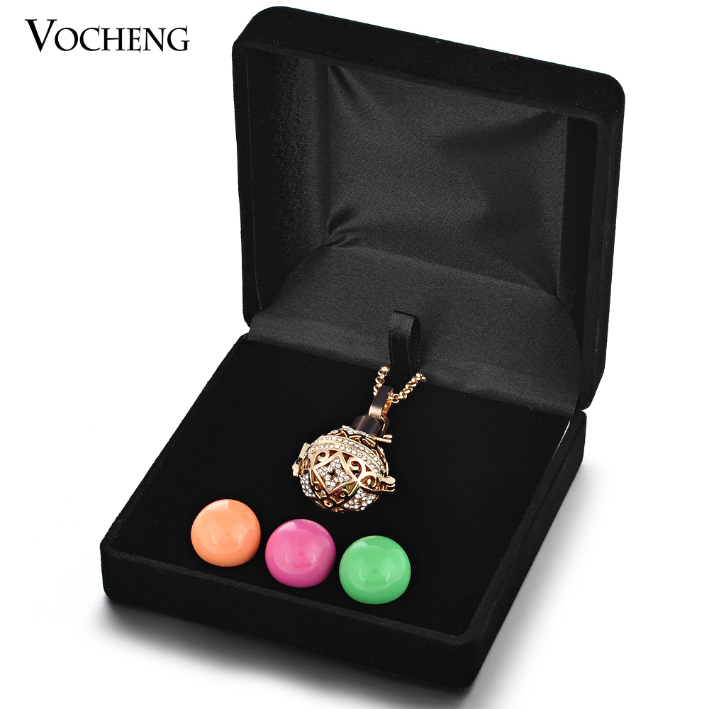 20pcs/lot Vocheng Angel Locket Jewelry Box 2 Colors Cage Ball Carrying Case VA-189*20 Vocheng Free Shipping